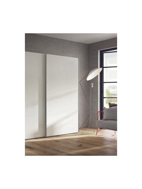 Kleiderschrank Oliver mit Schiebetüren in Weiss, Korpus: Holzwerkstoffplatten, lac, Weiss, 302 x 225 cm