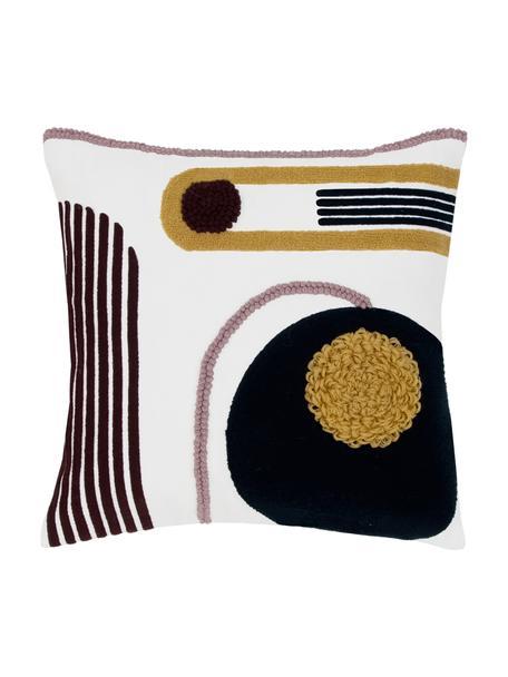 Federa arredo con ornamento astratto Allard, 100% cotone, Fronte: multicolore Retro: bianco, Larg. 45 x Lung. 45 cm