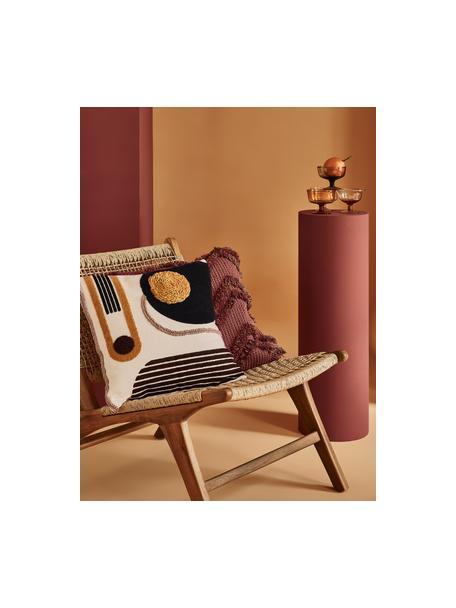 Kussenhoes Allard met abstracte decoratie, 100% katoen, Voorzijde: multicolour. Achterzijde: wit, 45 x 45 cm