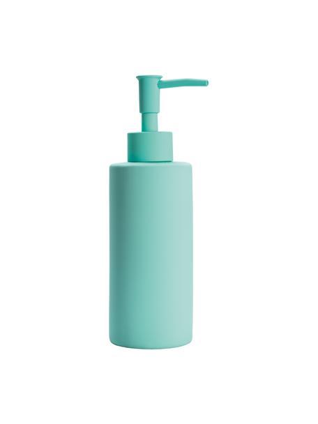 Dosificador de jabón de gres Mona, Gres, Turquesa, Ø 6 x Al 19 cm