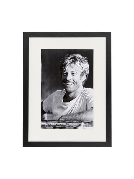 Stampa digitale incorniciata Robert Redford, Immagine: stampa digitale su carta,, Cornice: legno verniciato, Foto: nero, bianco Cornice: nero, Larg. 33 x Alt. 43 cm