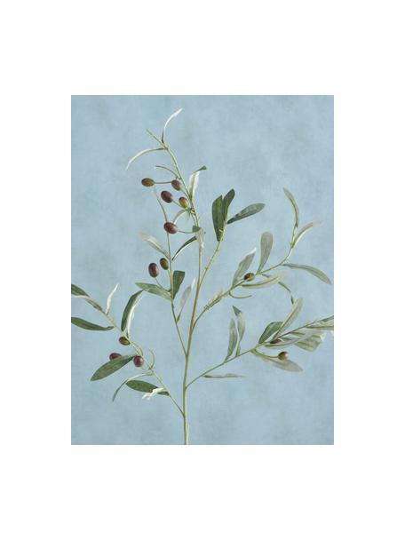Flor artificial artesanal Olives Garden, Plástico, Verde, An 17 x Al 77 cm