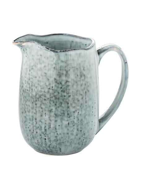 Lechera artesanal de gres Nordic Sea, 1L, Gres, Tonos grises y azules, An 17 x Al 16 cm