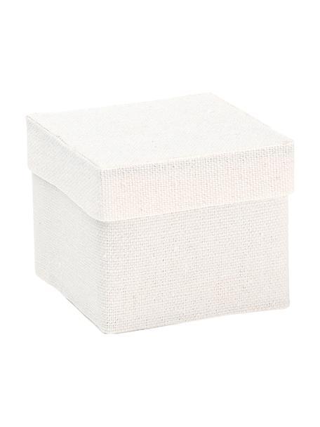 Geschenkboxen Square, 6 Stück, Baumwolle, Weiss, 5 x 5 cm