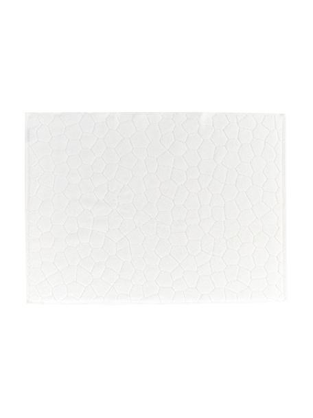 Badmat Stone, 100% katoen, Gebroken wit, 50 x 70 cm