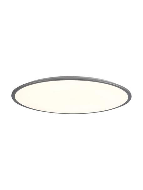 Dimbare LED paneel Jamil met afstandsbediening, Lampenkap: kunststof, Wit, zilverkleurig, Ø 58 x H 9 cm