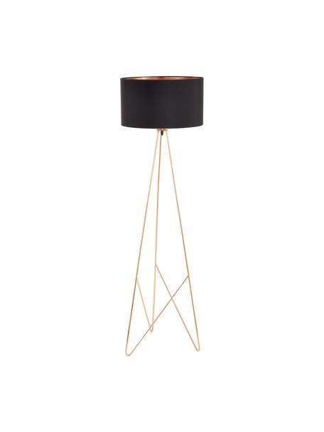 Lampa podłogowa Camporale, Czarny, odcienie miedzi, Ø 45 x W 154 cm