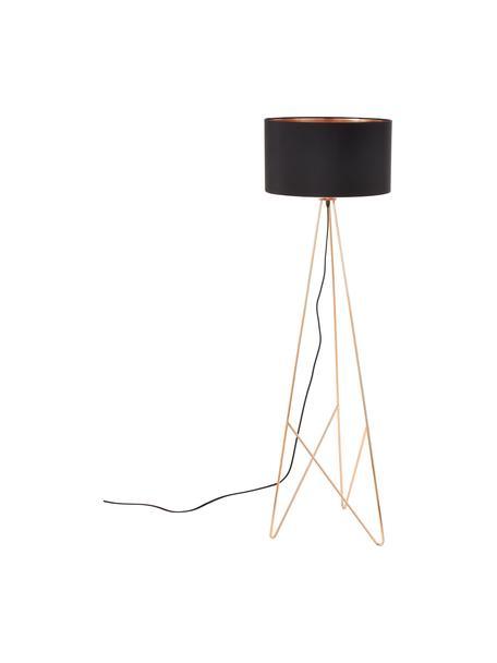 Stehlampe Camporale in Kupfer, Schwarz, Kupferfarben, Ø 45 x H 154 cm