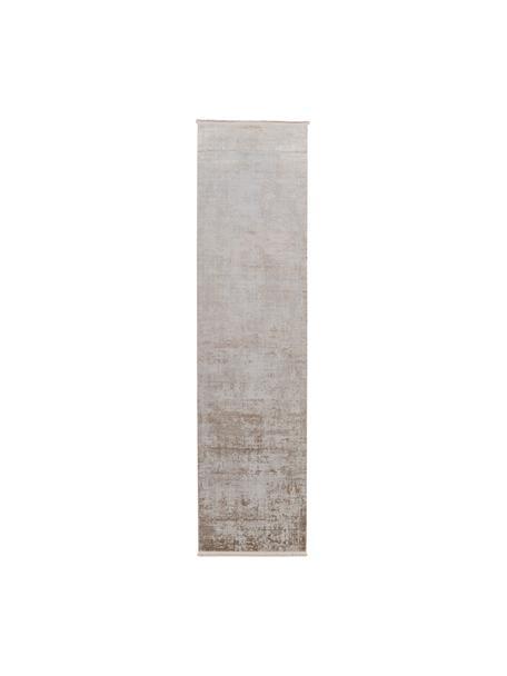 Chodnik vintage z frędzlami  Cordoba, Odcienie beżowego, S 80 x D 300 cm