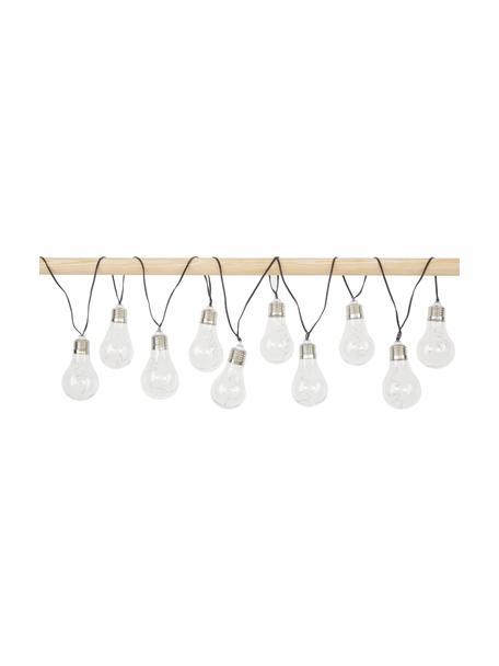 Guirnalda de luces solar Glow, 390cm, 10 luces, Linternas: plástico, Cable: plástico, Transparente, L 390 cm