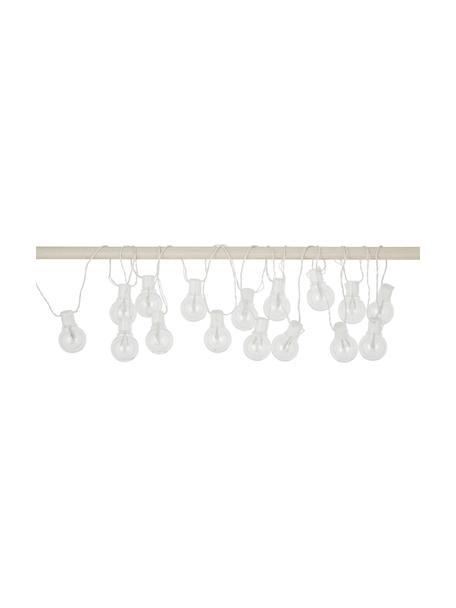 LED lichtslinger Partaj, 950 cm, 16 lampions, Lampions: kunststof, Wit, L 950 cm