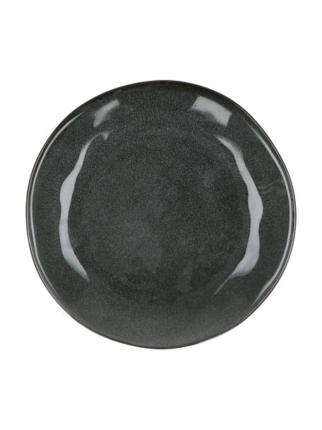 Platos llano Pauline, 2uds., Gres, Gris oscuro, Ø 27 cm