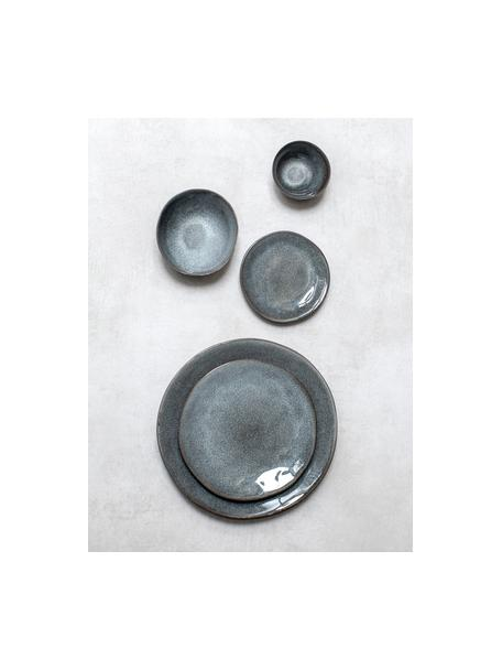Piatto piano grigio scuro Pauline 2 pz, Gres, Grigio scuro, Ø 27 cm