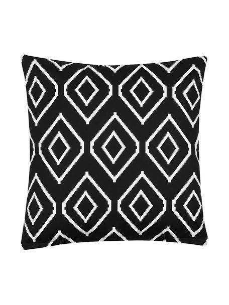 Poszewka na poduszkę Gracie, 100% bawełna, splot panama, Czarny, Kremowy, S 40 x D 40 cm