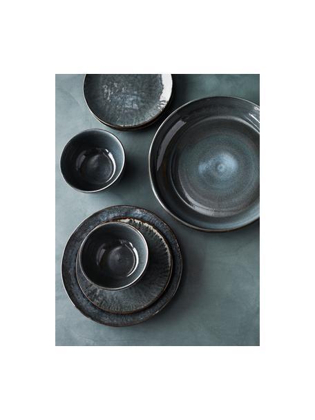Ciotola da portata in gres blu scuro Setal,  Ø 31 cm, Gres, Blu scuro, marrone scuro, Ø 31 x Alt. 7 cm