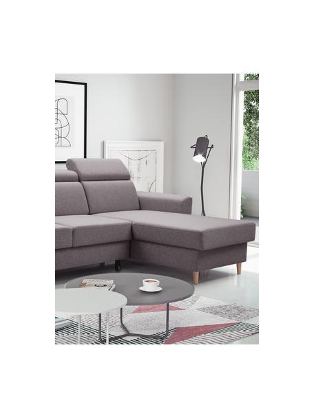 Sofa narożna z funkcją spania i miejscem do przechowywania Gusto (4-osobowa), Tapicerka: 100% poliester, Szary, S 235 x G 170 cm