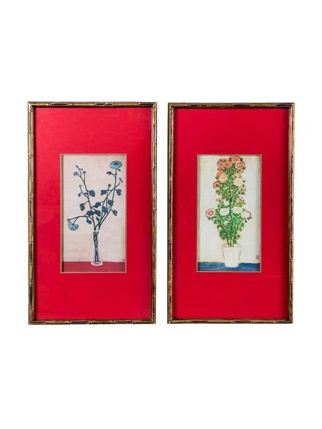 Set de cuadros Bruflower, 2pzas., Multicolor, An 40 x Al 70 cm