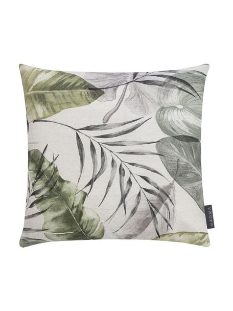 Federa arredo con motivo tropicale Amazonas, 50% cotone, 50% poliestere, Verde, Larg. 40 x Lung. 40 cm