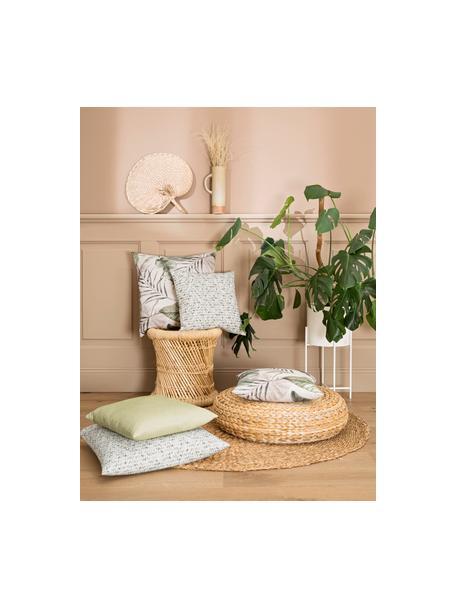 Kissenhülle Amazonas mit tropischen Motiven, 50% Baumwolle, 50% Polyester, Grün, 40 x 40 cm