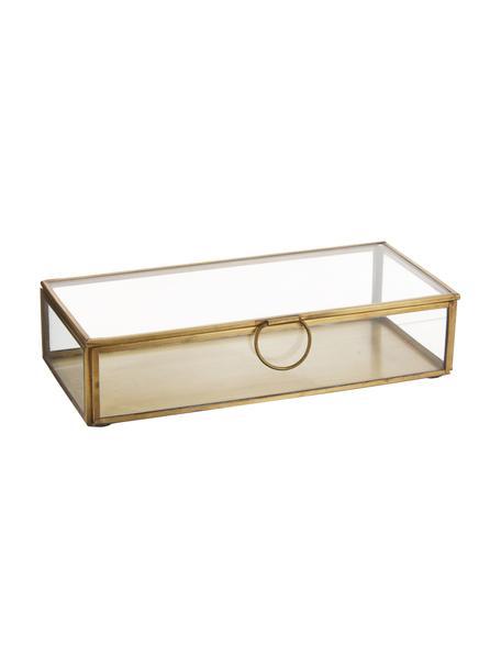 Caja Janni, Latón, vidrio, Latón, An 22 x F 10 cm