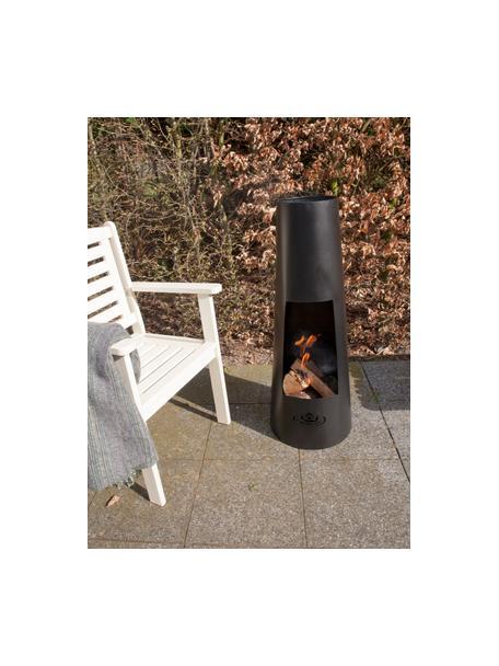 Terrassen-Ofen Pia, Metall, beschichtet, Schwarz, Ø 38 x H 100 cm