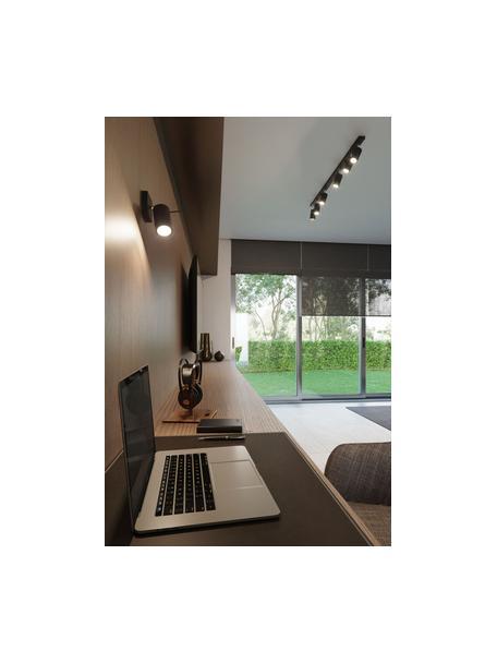Wand- und Deckenstrahler Etna in Schwarz, Lampenschirm: Stahl, lackiert, Schwarz, 10 x 15 cm
