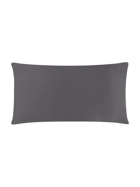 Funda de almohada de satén Comfort, 45x85cm, Gris oscuro, An 45 x L 85 cm