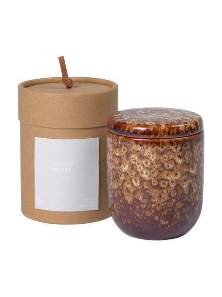 Duftkerze Spiced Amber (Ambra), Behälter: Keramik, Brauntöne, Ø 8 x H 9 cm