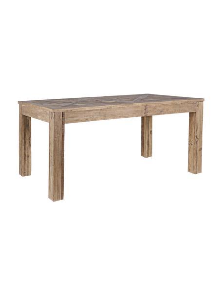 Stół do jadalni z drewna Kaily, Drewno wiązowe z recyklingu z antycznym wykończeniem, Beżowy, S 160 x G 90 cm