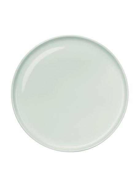 Piattino da dessert in porcellana verde menta lucida Kolibri 6 pz, Porcellana, Verde menta, Ø 21 cm