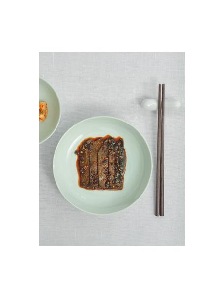 Porseleinen ontbijtborden Kolibri in glanzend mintgroen, 6 stuks, Porselein, Mintgroen, Ø 21 cm