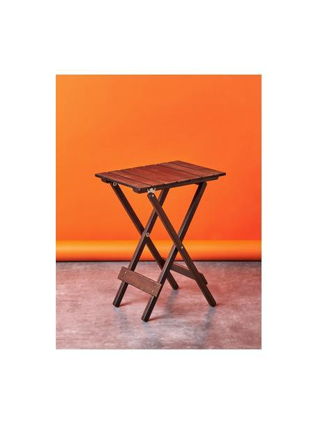 Mesa plegable pequeña de madera logia, Tablero: madera de acacia, aceitad, Madera de acacia, An 38 x Al 51 cm