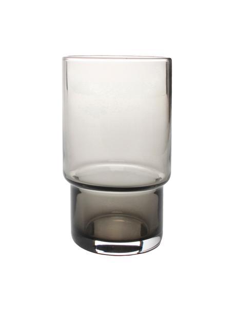 Wassergläser Secrets in Grau, 4 Stück, Glas, Grau, transparent, Ø 7 x H 12 cm