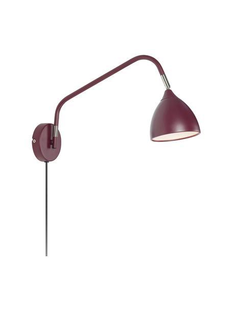 Aplique Valencia, con enchufe, Pantalla: metal pintado, Estructura: metal pintado, Cable: plástico, Lila, An 12 x Al 22 cm