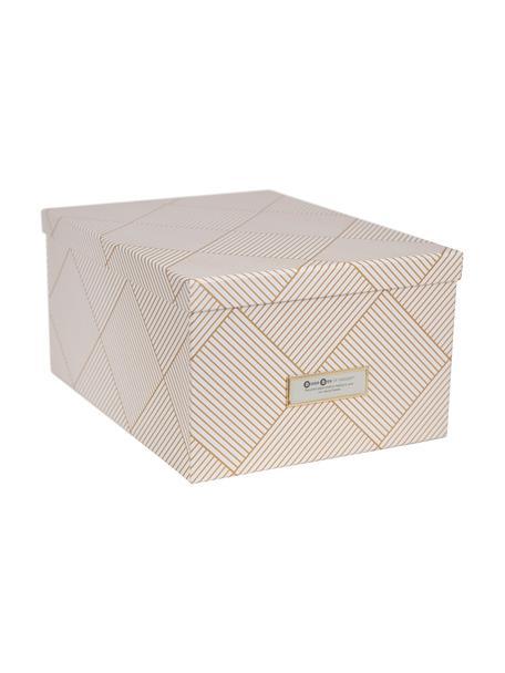 Pudełko do przechowywania Gustav, Odcienie złotego, biały, S 30 x W 15 cm