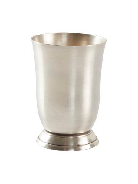 Zahnputzbecher Zoe, Metall, Silberfarben, Ø 9 x H 11 cm