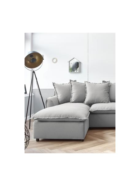 Sofa narożna z funckją spania i miejscem do przechowywania Mona, Tapicerka: 100% poliester, wodoodpor, Stelaż: drewno naturalne, płyta w, Nogi: tworzywo sztuczne, Jasny szary, S 230 x G 170 cm