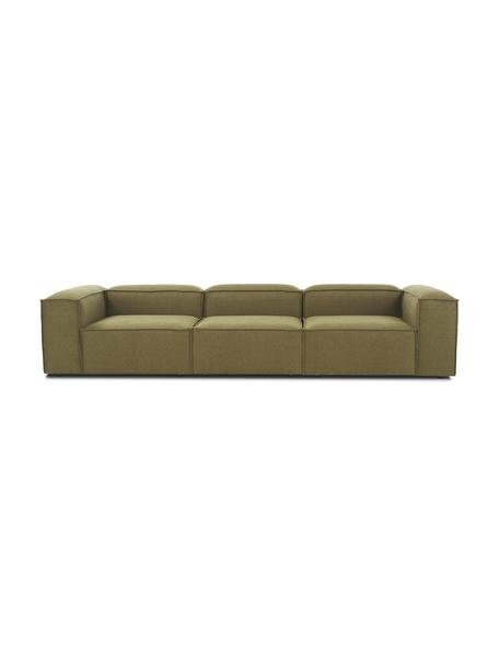 Modulares Sofa Lennon (4-Sitzer) in Grün, Bezug: 100% Polyester 35.000 Sch, Gestell: Massives Kiefernholz, Spe, Webstoff Grün, B 327 x T 119 cm