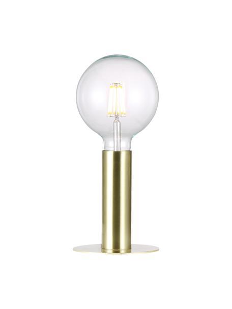 Mała lampa stołowa z metalu Dean, Mosiądz, Ø 13 x W 15 cm