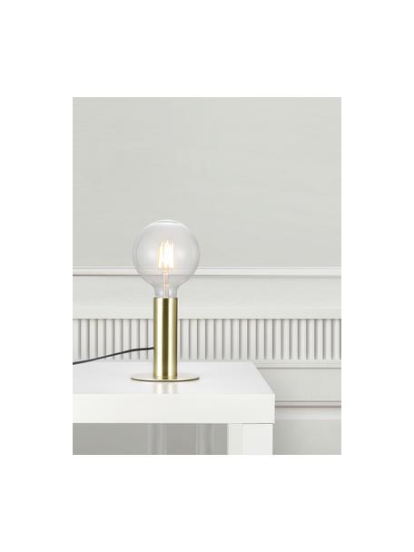 Kleine tafellamp Dean van metaal, Lampvoet: messing, Messingkleurig, Ø 13 x H 15 cm