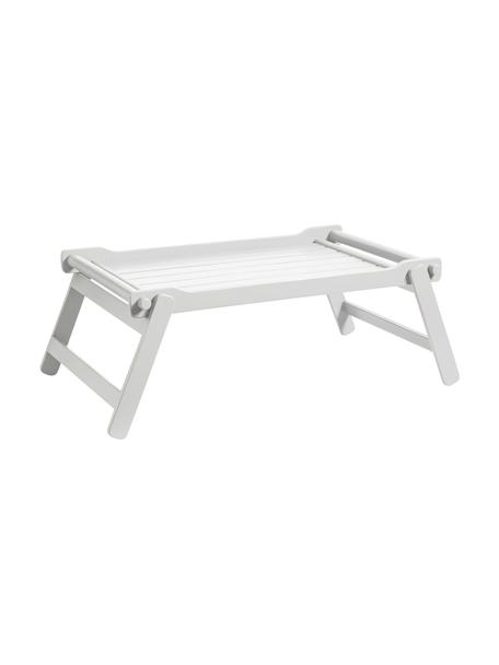 Bandeja de madera Bed, plegable, Madera de caoba, poliuretano pintado, Blanco, L 58 x An 36 cm