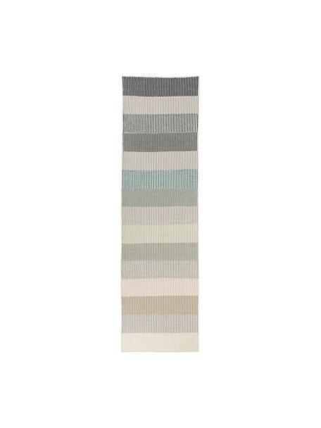 Passatoia kilim a righe in lana tessuta a mano Devise, 100% lana Nel caso dei tappeti di lana, le fibre possono staccarsi nelle prime settimane di utilizzo, questo e la formazione di lanugine si riducono con l'uso quotidiano, Multicolore, Larg. 80 x Lung. 280 cm
