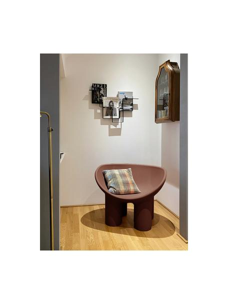 Fotel Roly Poly, Polietylen, wyprodukowany formowaniem rotacyjnym, Brązowy, S 84 x G 57 cm