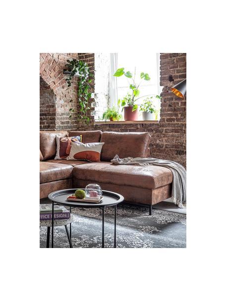 Sofá cama rinconero Lilly, Tapizado: 100%microfibra, Marrón, An 237 x F 197 cm