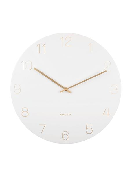Reloj de pared Charm, Metal recubierto, Blanco, latón, Ø 40 cm