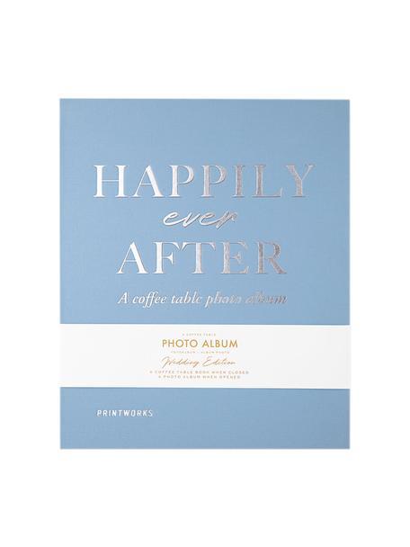 Fotoalbum Happily Ever After, Blauw, wit, zilverkleurig, zwart, 26 x 32 cm