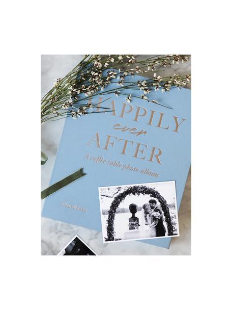 Album na zdjęcia Happily Ever After, Niebieski, biały, odcienie srebrnego, czarny, D 32 x S 26 cm