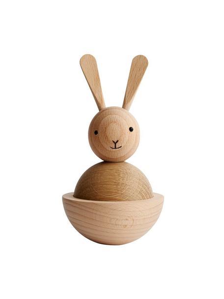 Oggetto decorativo Rabbit, Legno, nero, Ø 7 x Alt. 13 cm