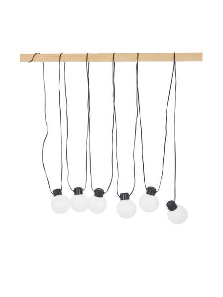 Guirnalda solar de luces Globus, 500cm, 6 luces, Cable: plástico, Negro, transparente, L 500 cm