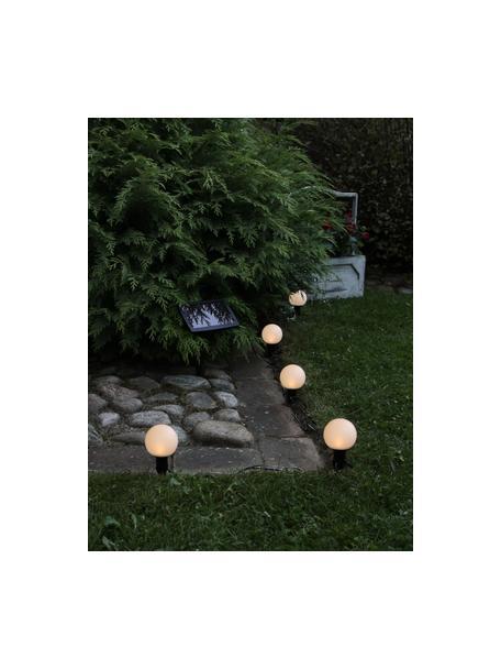 Ghirlanda solare Globus, 500 cm, 6 lampioni, Paralume: materiale sintetico, Nero trasparente, Lung. 500 cm